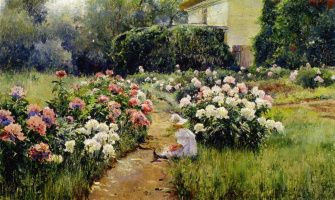 Mikhail Andreevich Bercos. Peonies