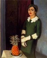 Андре Хамбоург. Женщина с ананасом