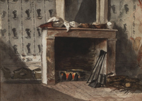 Eugene Delacroix. Fireplace