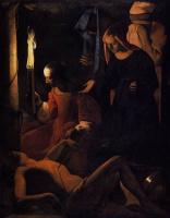 Жорж де Латур. Святая Ирина, врачующая Святого Себастьяна