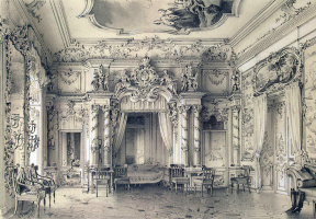 Луиджи Премацци. Спальня в Большом Царскосельском дворце