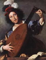 Бернардо Строцци. Игрок на лютне