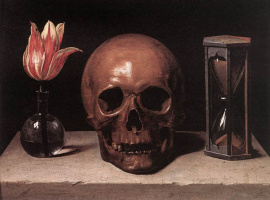 Филипп де Шампень. Натюрморт с черепом