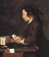 Жан Батист Симеон Шарден. Мальчик, играющий картами