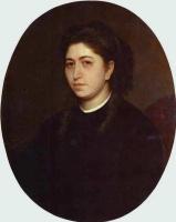 Иван Николаевич Крамской. Портрет молодой женщины, одетой в черный бархат