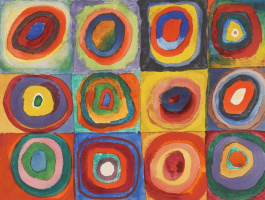 Wassily Kandinsky. Color study: squares with concentric circles