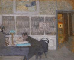 Жан Эдуар Вюйар. В «Белой Ревее». Портрет Феликса Фенеона
