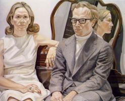 Филипп Перельштейн. Женщина и мужчина в очках
