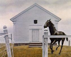 Алекс Колвилл. Церковь и лошадь