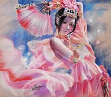Татьяна Ивановна Устьянцева. Танец с веером