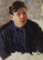 Vasily Ivanovich Surikov. Portrait of a young man, Leonid Chernyshov