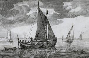 Ян Порселлис. Лист 11 серии иллюстраций кораблей голландского флота