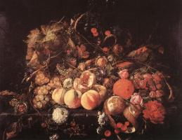 Ян Давидс де Хем. Натюрморт с фруктами2