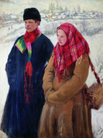 Иван Семенович Куликов. Возвращение из города. 1914