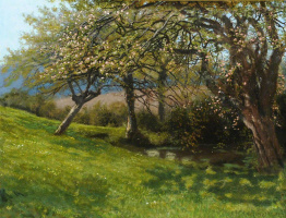 Артур Хьюз. Весенний сад в Баргфилде