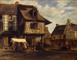 Теодор Руссо. Рынок в Нормандии