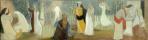 Туве Янссон. Притча о десяти девах. Эскиз росписи алтаря церкви города Теува
