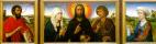 Рогир ван дер Вейден. Христос-Искупитель, Богоматерь и Иоанн Евангелист, со святыми Иоанном Крестителем и Марией Магдалиной на боковых створках