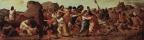 Эрколе де' Роберти. Пределла со сценами Страстей Христовых, сцена: Молитва в Гефсиманском саду и Осмеяние Христа