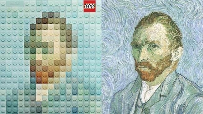 Lego – лизация искусства: известные картины в детальках – теперь официально!