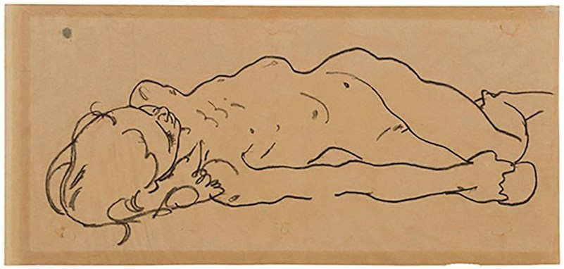 Egon Schiele drawing was found  in a New York thrift store