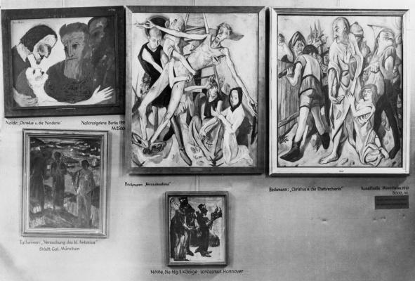 """Картины Макса Бекмана и Эмиля Нольде на выставке """"Дегенеративное искусство"""""""