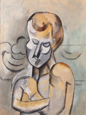 Pablo Picasso. Man with crossed hands