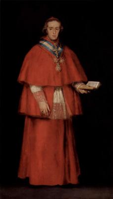 Francisco Goya. Cardinal Luis Maria de Boron