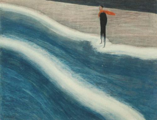 Леон Спиллиарт. Young man with red scarf-1908