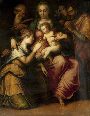 Giorgio Vasari. The mystic marriage of St Catherine (authorship presumably)