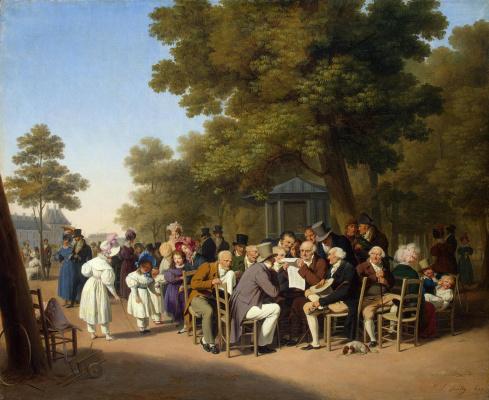 Louis-Leopold Boi. Politicians in the Tuileries Garden