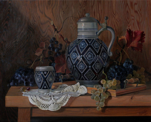 Sergey Vladimirovich Chumakov. Jug and grapes