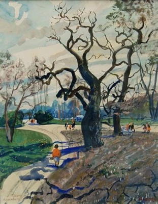 Oscar Laske. The tree in Laxenburg
