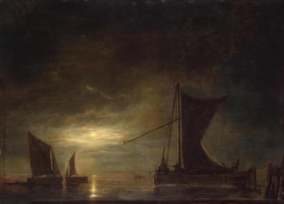 Альберт Якобс Кейп. Море при лунном освещении