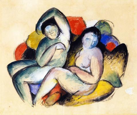 Франц Марк. Две обнаженные женщины