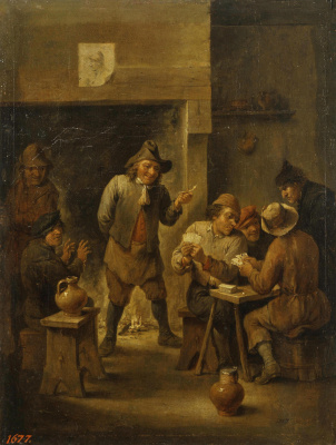 David Teniers the Younger. Peasants in a zucchini