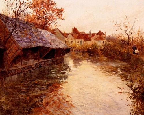 Фриц Таулов. Речная сцена утром
