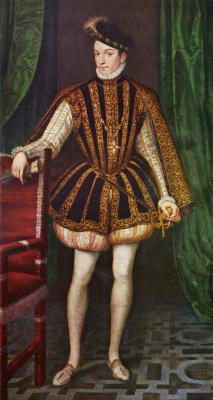 Франсуа Клуэ. Портрет короля Франции Карла IX
