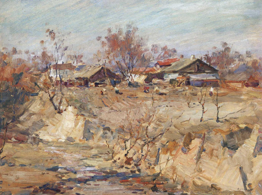 Sergey Fedorovich Shishko. Spring in Kurenevka. Babi Yar.