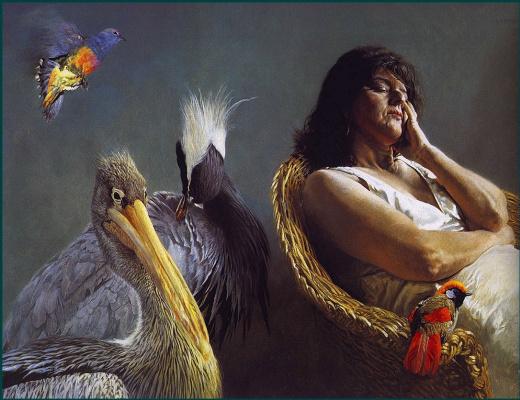 Чинг Рау Харрис. Женщина и птицы