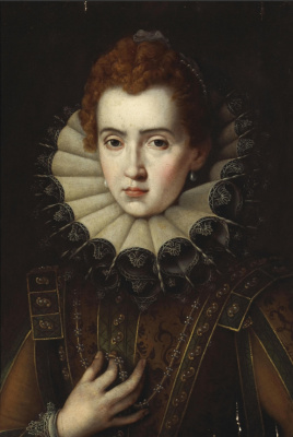 Alessandro Allori. Portrait of a lady. Private collection
