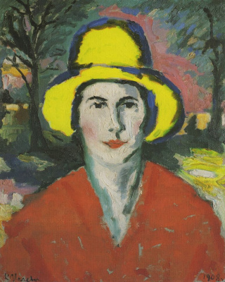 Kazimir Malevich. Portrait of woman in yellow hat