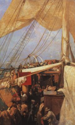 Konstantin Korovin. On the deck