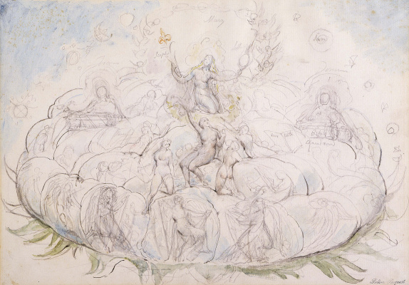 "William Blake. Queen of Heaven in glory. Illustrations for ""the divine Comedy"""