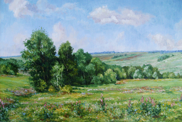 Victor Vladimirovich Kuryanov. Field. Sunny day