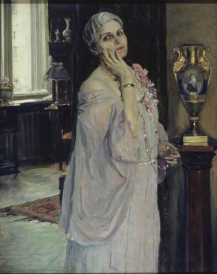 Mikhail Vasilyevich Nesterov. Portrait of a folk artist K. G. Darginskoy