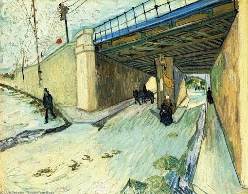 Vincent van Gogh. Railway bridge on Avenue Monmajour