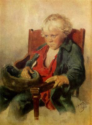 Vladimir Egorovich Makovsky. Portrait of a boy