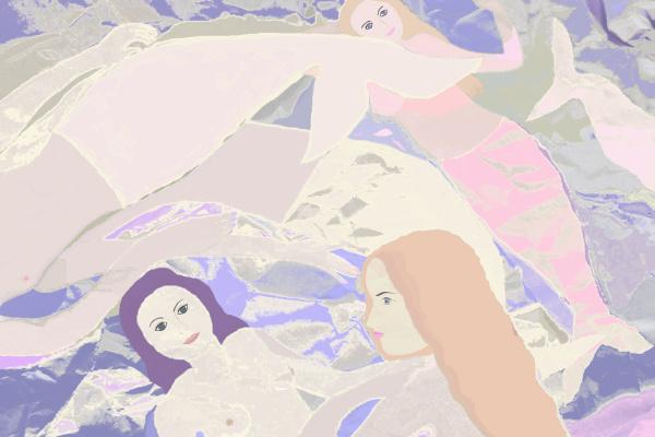 Svetlana Sisina. Frolicking Little Mermaids