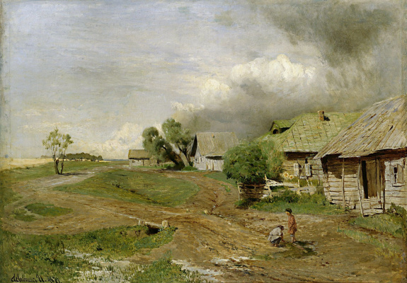 Isaac Levitan. Before the storm